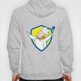 Chef Cook Arm Out Spatula Shield Cartoon Hoody