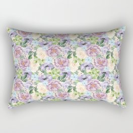 Roses & Forget Me Nots Rectangular Pillow