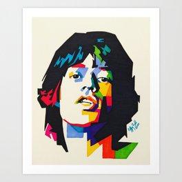 Young Mick Art Print