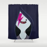 marceline Shower Curtains featuring Marceline Stardust by lapinette