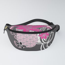 Polynesian Tribal Pineapple Collage Fanny Pack