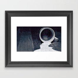 Don't cry over spilled milk Framed Art Print