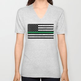 Thin Green Line Unisex V-Neck