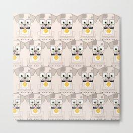 Super cute animals - Cute White Cream Puppy Dog Metal Print