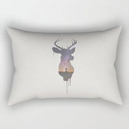 Deer Head V Rectangular Pillow