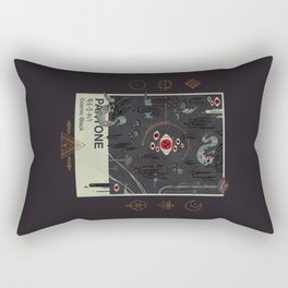 Cosmic Black Rectangular Pillow