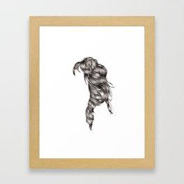 Dara's Hair Framed Art Print