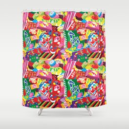 Japanese Candy Shower Curtain