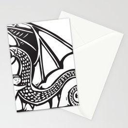 Girl Hugging Dragon Stationery Cards