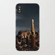 Cactus in Incahuasi island Slim Case iPhone X