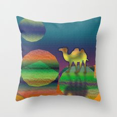 Pop Camel Throw Pillow