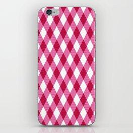 Pink rhombuses on white. iPhone Skin