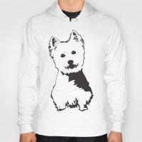 westie Hoodies featuring Westie Westhighland Terrier artwork by MONOFACES