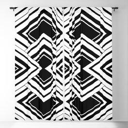 Black And White Art Deco Squares Blackout Curtain