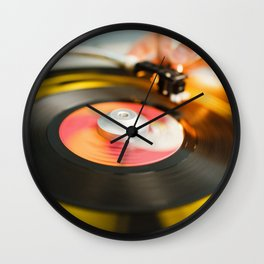 "Colorful 7"" Vinyl Spinning Wall Clock"