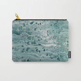 acrylic pouring – deep sea Carry-All Pouch