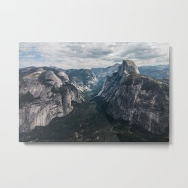 Half Dome - Yosemite National Park - Wide Angle Metal Print