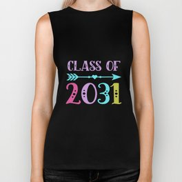 class of 2031 grow with me first day of school math Biker Tank