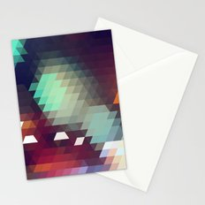 Triangle Pattern Stationery Cards