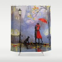 romantic Shower Curtains featuring Romantic by OLHADARCHUK