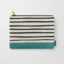 Teal x Stripes Carry-All Pouch