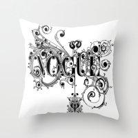 vogue Throw Pillows featuring Vogue by Beauti Asylum