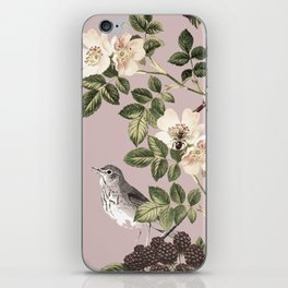 Birds and the Bees Pink Berry iPhone Skin