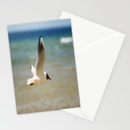 Seagull over the sea Stationery Cards