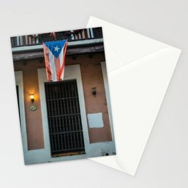 The flag of Puerto Rico Stationery Cards