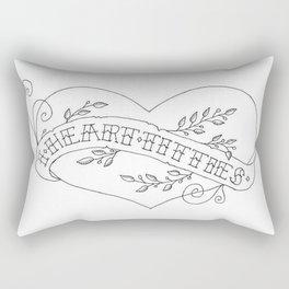 I Heart Titties Rectangular Pillow