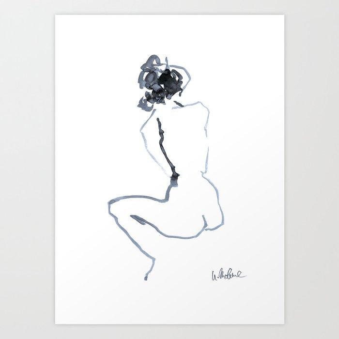 Nude drawing Kunstdrucke