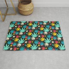 Marijuana 420 Cannabis Weed Pattern Gift Rug