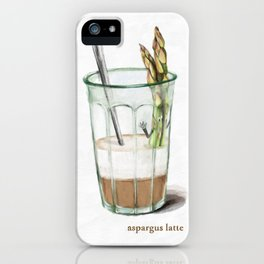 La Cuisine Fusion - Aspargus Latte iPhone Case