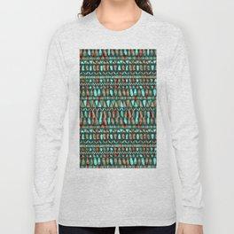 Abstract Tribal Stripe Long Sleeve T-shirt