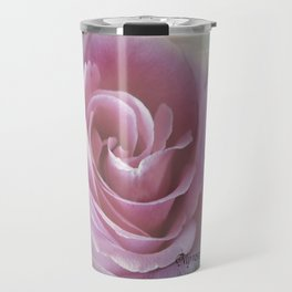 A Rose in the Heart of a Rose Travel Mug