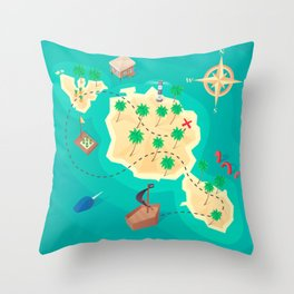 Tahiti Treasure Throw Pillow