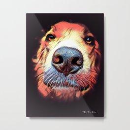 Man's Best Friend – Graphic 2 Metal Print