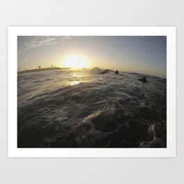 Seal Beach Bodyboarder Art Print