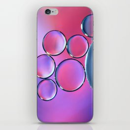 Oil On Water - Bubbles Purple & Pink iPhone Skin