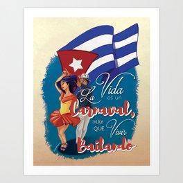 Cuban Carnaval Dancing Art Print
