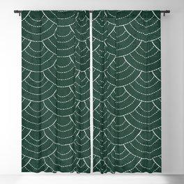 Green sashiko Blackout Curtain