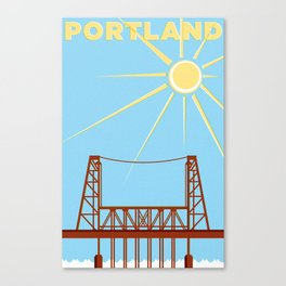 PDX Travel / Bridge Canvas Print