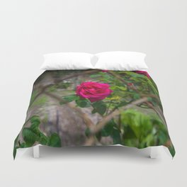 Rose and wire Duvet Cover