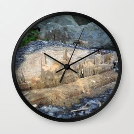Castle of the woods Wall Clock