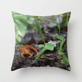 Bright Newt Throw Pillow