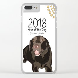 Year of the Dog - Chocolate Labrador Clear iPhone Case
