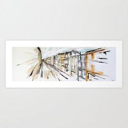 BORDEAUX Rue Sainte-Catherine Art Print