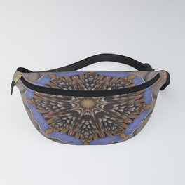 Blue Brown Kaleidoscope Retro Groovy Image Fanny Pack