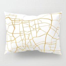 JAKARTA INDONESIA CITY STREET MAP ART Pillow Sham