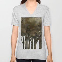 Tree Impressions No.1A by Kathy Morton Stanion Unisex V-Neck